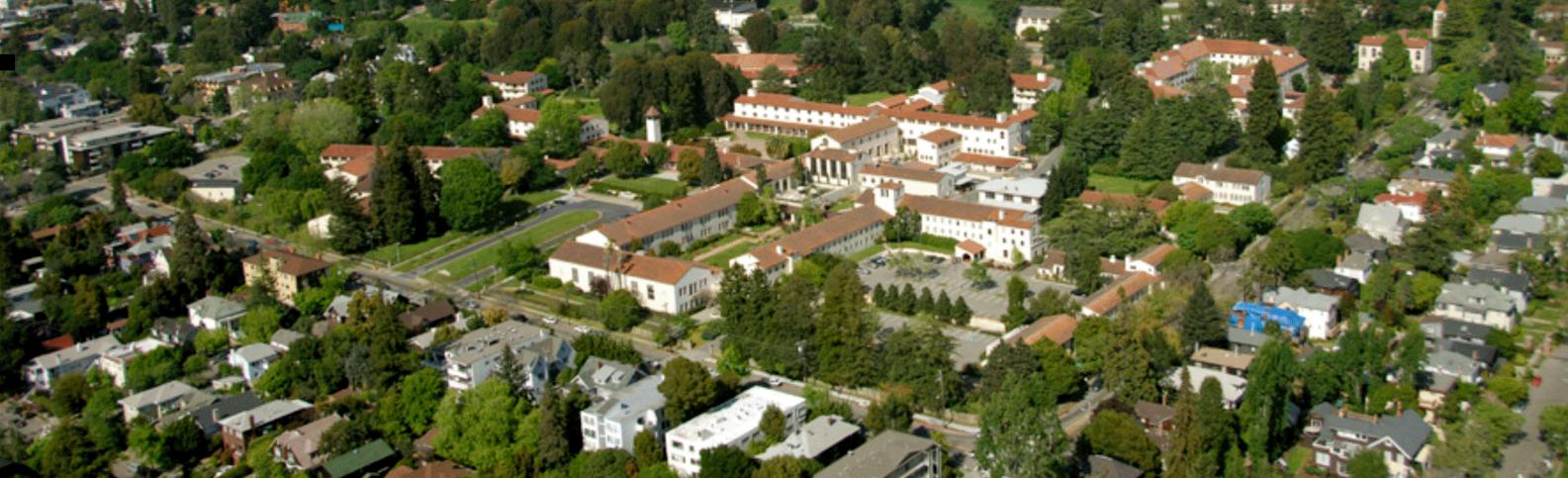 aerial view of clark kerr campus, UC Berkeley