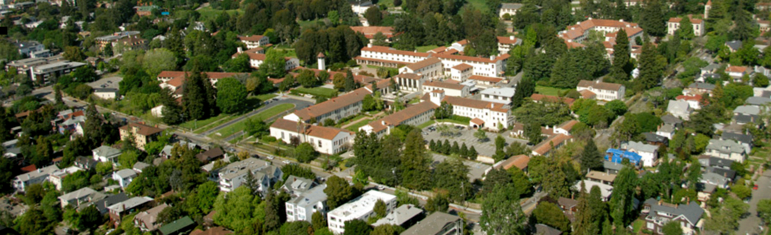aerial view of clark kerr campus, UC Berkeley