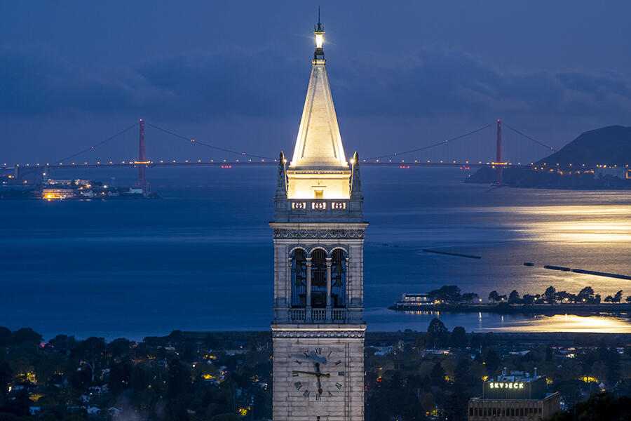 Campanile and the Supermoon  Apr 26 2021