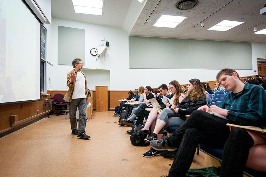 Faculty giving a lecutre.